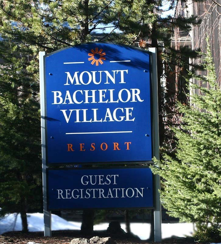 Mt. Bachelor Village Sign