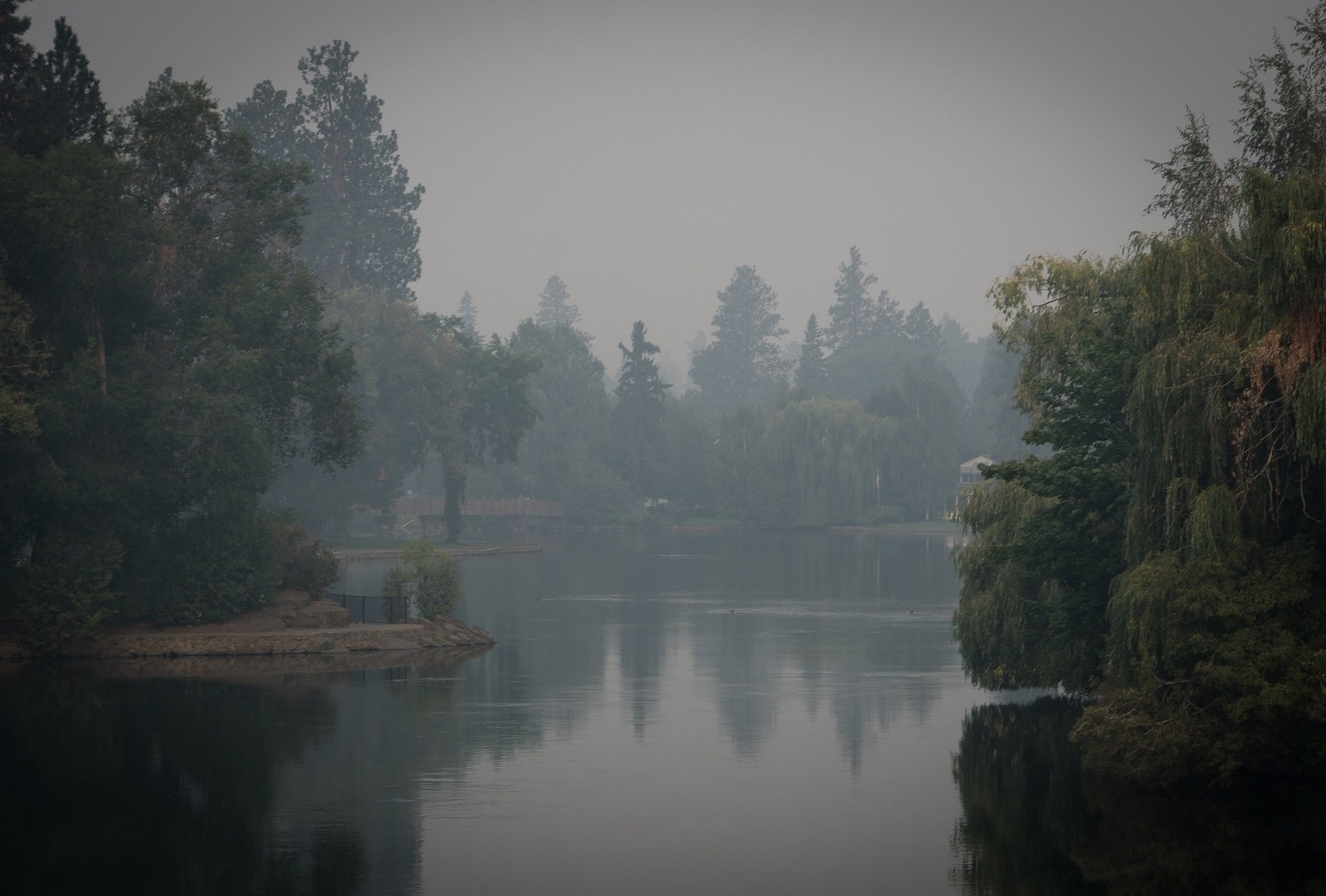 Mirrow Pond Bend Oregon Smokey
