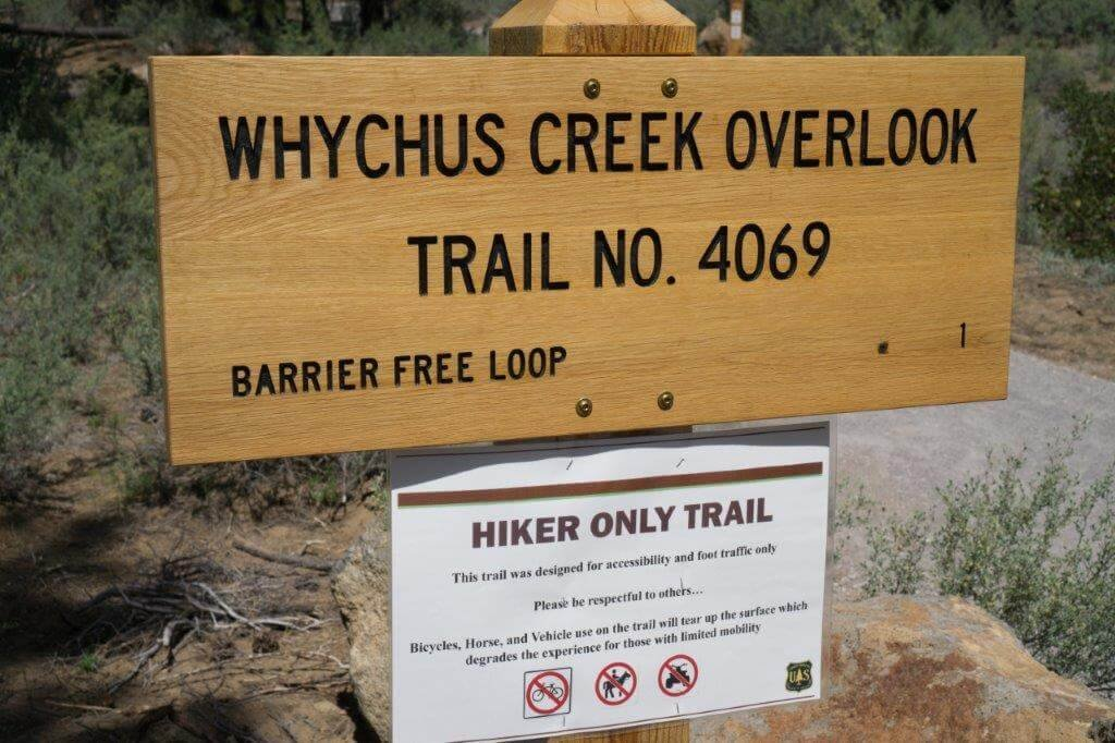 Whychus Canyon hike sign